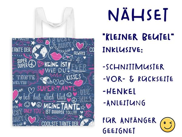 Nähset Tasche SuperTante, Canvas Biobox