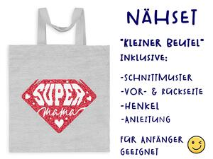Nähset Tasche SuperMama, Canvas Biobox