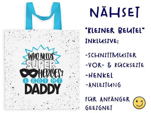 Nähset Tasche hero SuperPapa, Canvas Biobox