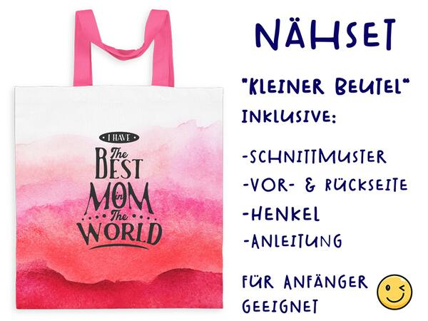Nähset Tasche best mom in the world, SuperMama, Canvas Biobox