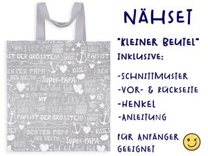 Nähset Tasche SuperPapa, Canvas Biobox