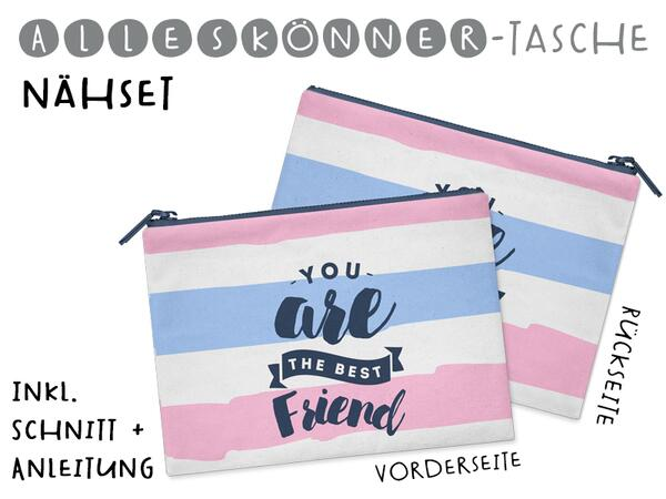 Nähset Alleskönner Tasche, You are the best friend, inkl....