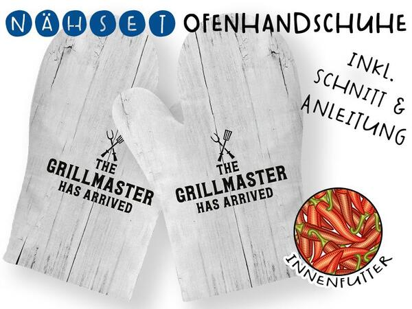 Nähset Ofenhandschuhe (1 Paar), Grillmaster has arrived,...