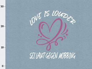 Bio-Jersey, Love is louder XL Panel, Anti Mobbing, by BioBox