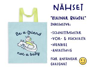 Nähset Tasche Be a friend, Anti Mobbing, Canvas Biobox