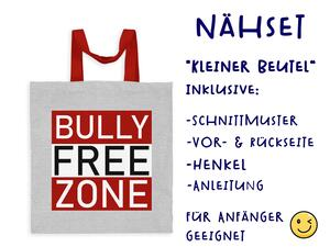 Nähset Tasche Bully Free Zone, Anti Mobbing, Canvas Biobox