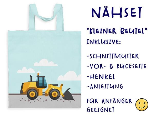 .Nähset Tasche Bagger, Canvas Biobox