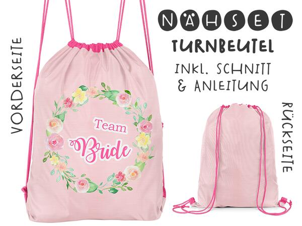 Nähset Turnbeutel, Team Bride, Canvas Biobox