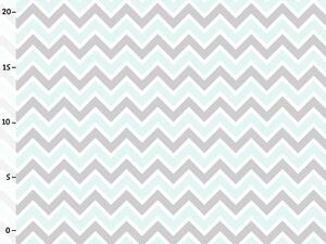 Bio-Jersey, Love Rose, Chevron aqua, by BioBox