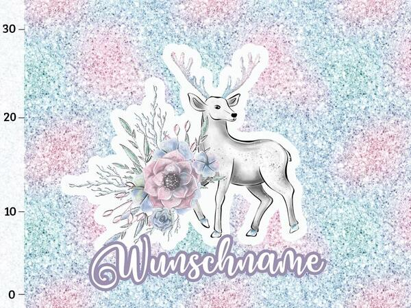 Bio-Sommersweat WUNSCHNAME Panel, Lovely Deer, by Bio-Box