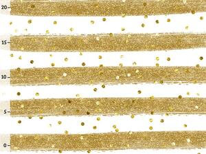 Bio-Jersey fake Glitzer Ringel gold by BioBox