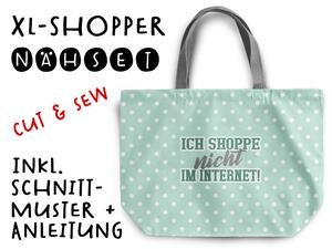 Nähset XL Shopper-Bag Tasche, Internetshopper, inkl....