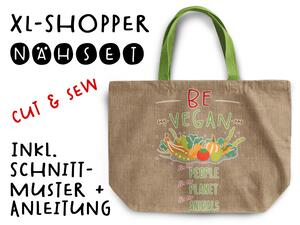Nähset XL Shopper-Bag Tasche, be vegan, inkl....