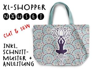 Nähset XL Shopper-Bag Tasche, Yoga / Namasté...