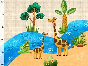 Bio-Jersey Panel, funny jungle - Gitta Giraffe by BioBox
