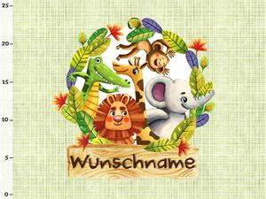 Bio-Jersey WUNSCHNAME Panel, funny jungle, BioBox