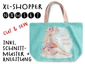 Nähset XL Shopper-Bag Tasche, big is beautiful, love your...
