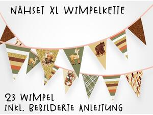 Nähset XL Wimpelkette, 23 Wimpel, Herbstglanz by BioBox