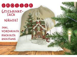 Nähset Großer Geschenke-Sack christmas classic, Canvas by...