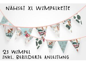 Nähset XL Wimpelkette, 23 Wimpel, Winterspaß by BioBox