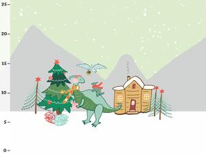 Bio-Jersey Panel, XMAS Dinos, Dinosaurier by BioBox
