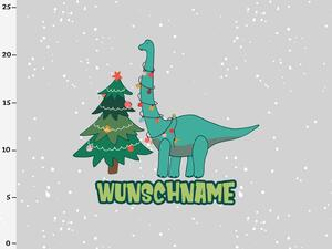 Bio-Jersey WUNSCHNAME Panel, XMAS Dinos by BioBox