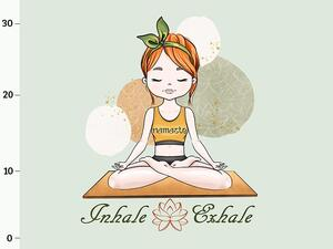 Bio-Jersey, XL-PANEL, Namaste, Yoga, Inhale Exhale, by...
