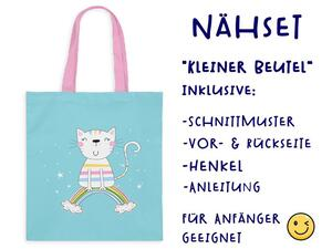 Nähset Tasche, Furry Friends, Canvas Biobox