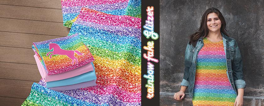 Eigenproduktion Rainbow fake Glitzer